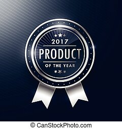 productetiket, ontwerp, jaar, badge, zilver