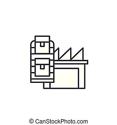 Production assets linear icon concept. Production assets line vector sign, symbol, illustration.