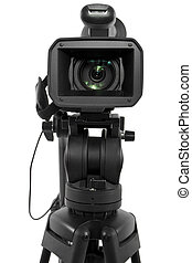 Production Camera - production camera on a tripod and ...