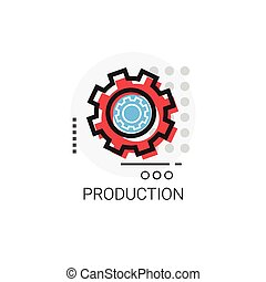 Production Cog Wheel Business Industry Icon