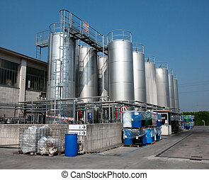 production, de, industriel, huile