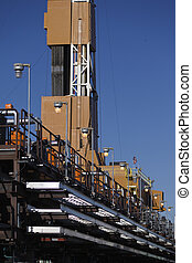 production line and drilling rig derrick - North Slope...