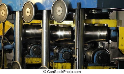 Industrial equipment. Manufacturing process in heavy...