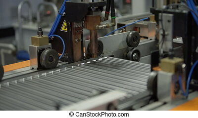 Production Line in heating radiators Factory - Workshop for...