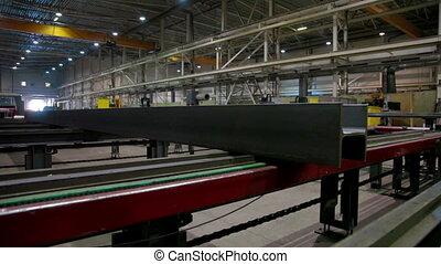 Production line in Industrial factory - Automated machine...
