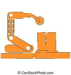 Assembly line image - Production machinery. Assembly line...