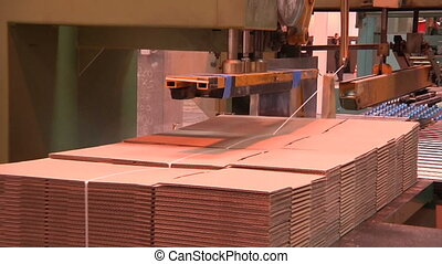 production of cardboard  - production of cardboard