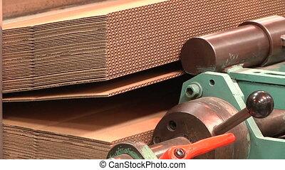 production of cardboard  - production of cardboard