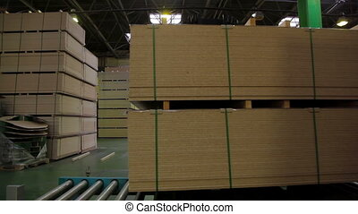 Production of chipboard - Furniture production. cut parts...