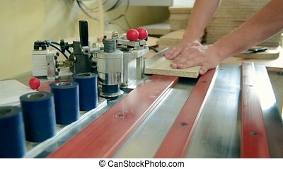 production of furniture edging detail - production of...