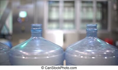 Production of plastic bottles of mineral water and lemonade