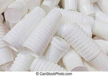 production of plastic cups