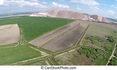 Production of potash fertilizers in Belarus Soligorsk. The...