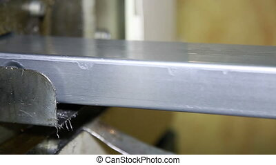 Production of steel profiles.