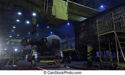 Production of trains in the service depot - Production of...