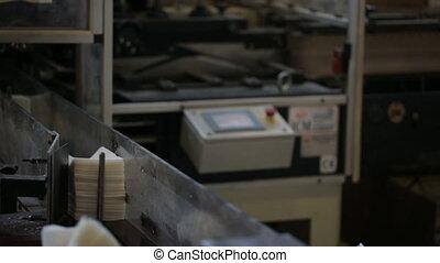 production papier, usine, fabrication