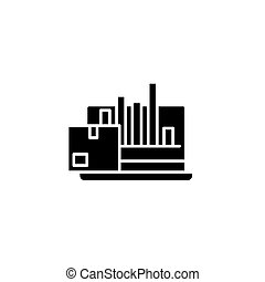 Production performance black icon concept. Production performance flat vector symbol, sign, illustration.