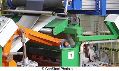 Production process of tires on modern equipment. Rubber tape...