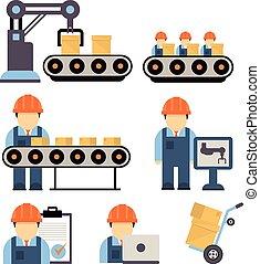 Production Process Vector Illustration - Production process...