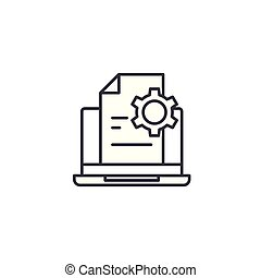 Production report linear icon concept. Production report line vector sign, symbol, illustration.