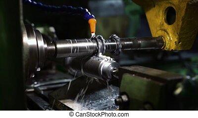 production, rotation, partie machine, vidéo, plante