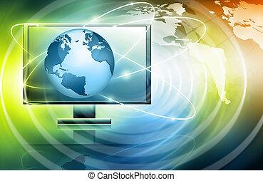 production, tã©lã©viseur, concept, technologie, internet