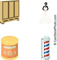 production, textiles, entertainment and other web icon in cartoon style., pen, color, business icons in set collection.