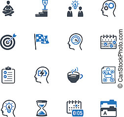 Productive at Work Icons - Set of 16 productive at work...