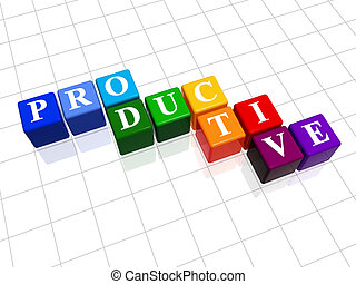 productive in colour - 3d colour boxes with text - ...