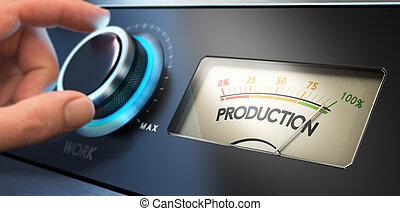 productivité, amélioration, concept