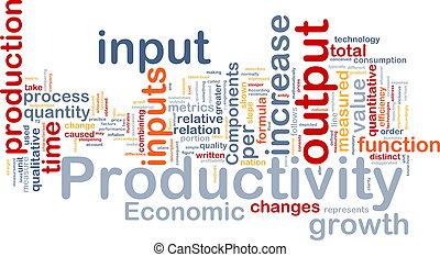 Productivity background concept