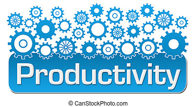 Productivity Blue Gears On Top