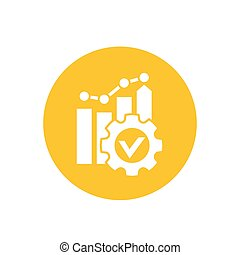 productivity growth icon, eps 10 file, easy to edit