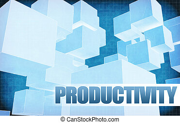 Productivity on Futuristic Abstract