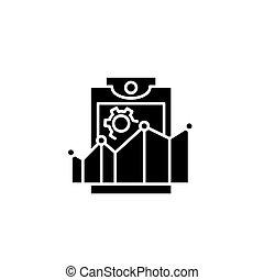 Productivity rates black icon concept. Productivity rates flat vector symbol, sign, illustration.