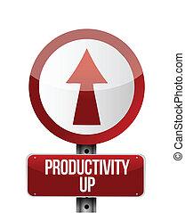 productivity up sign illustration design