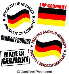 producto, alemania, sellos