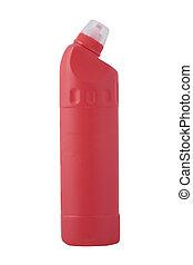 producto, botella, limpieza, rojo