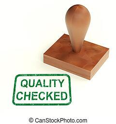 producto, comprobado, estampilla, probado, aprobar, calidad...