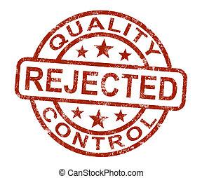 producto, estampilla, rechazado, fallado, qc, disallowed, ...