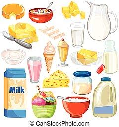 producto lácteo, alimento, colección
