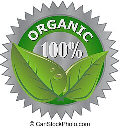 producto, orgánico, etiqueta