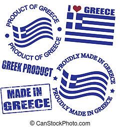 producto, sellos, grecia