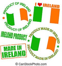 producto, sellos, irlanda