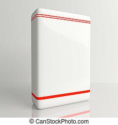 producto, software, caja, blanco