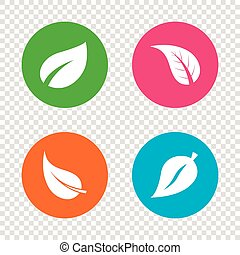 producto, symbols., natural, fresco, hoja, icon.