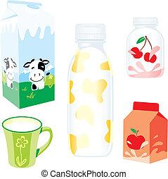 productos lácteos, aislado