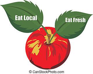 products...., świeży, miejscowy, jeść