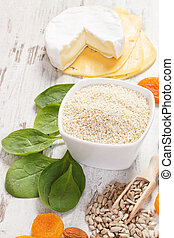 Products and ingredients containing calcium and dietary...