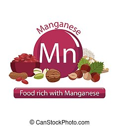 healthy food - Products rich with manganese. Bases of...